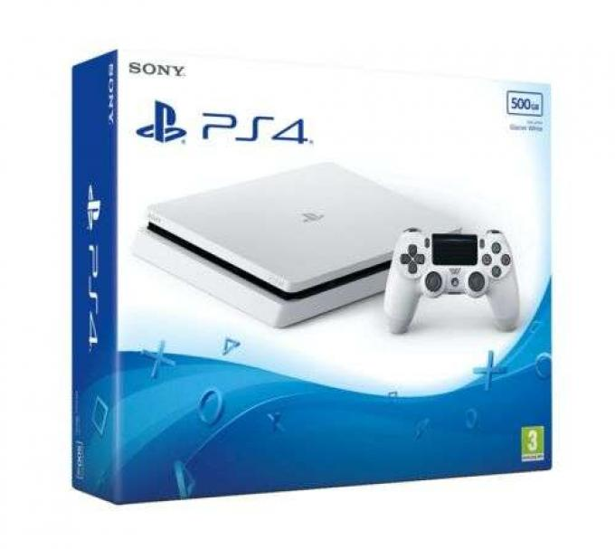 Sony Playstation 4 PS4 500GB Slim Game Console (White, Black)