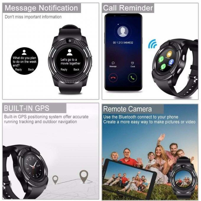 Smart Watch For Android iOS iPhone Apple  GPS Bluetooth
